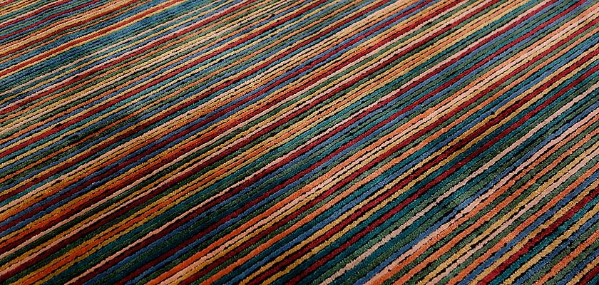 Rug Of The Month August 2019: A Work Of Art With Stripes – the Tibey TB20